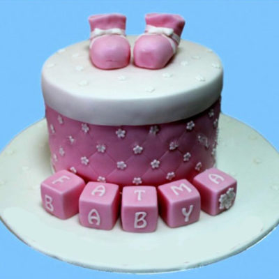 Baby boots cake