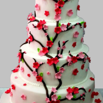 Cherry Blossoms Anniversary Cake Free delivery in Lahore