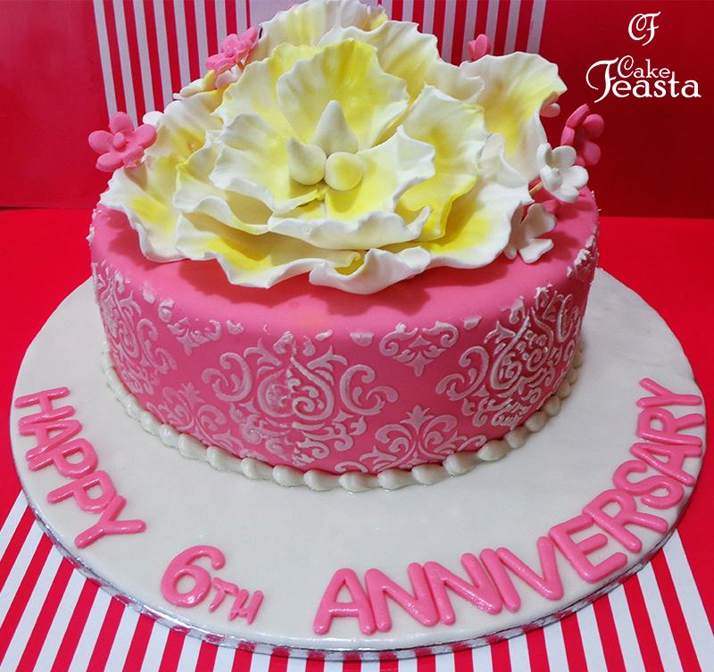 Peony Anniversary Cake in lahore