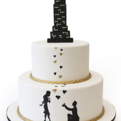 Empire State Building Bridal Cake