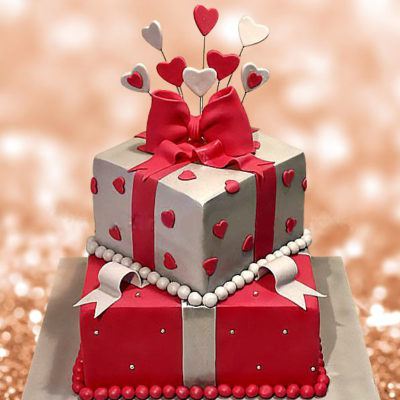Heart Boxes Cake