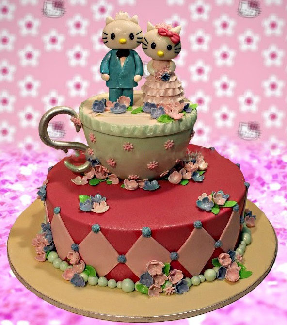 Hello Kitty Anniversary Cake Free delivery in Lahore
