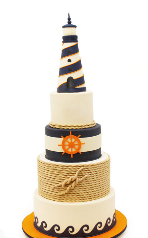 Nautical Bar Mitzvah Cake
