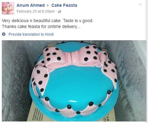 customer reviews cake feasta