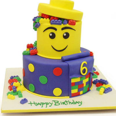 Lego Block Birthday Cake