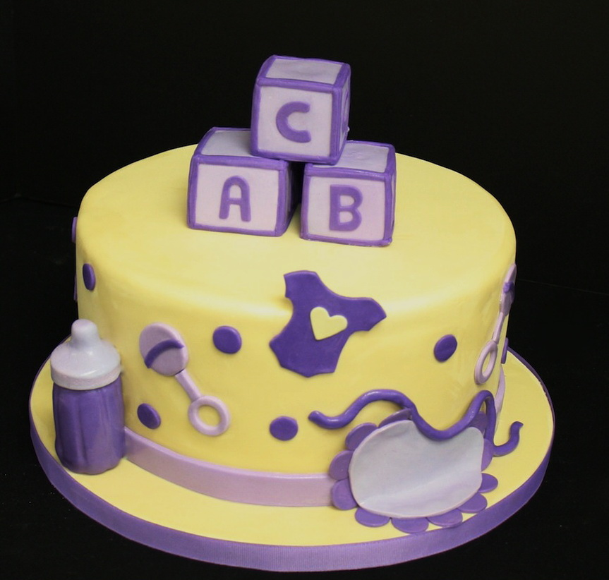 ABC Baby Shower Cake in Lahore.