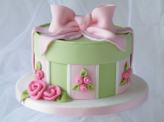 Pink Ribbon Mothers Day Cake