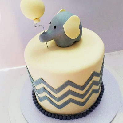 Cute Elephant Baby Shower Cake in Lahore