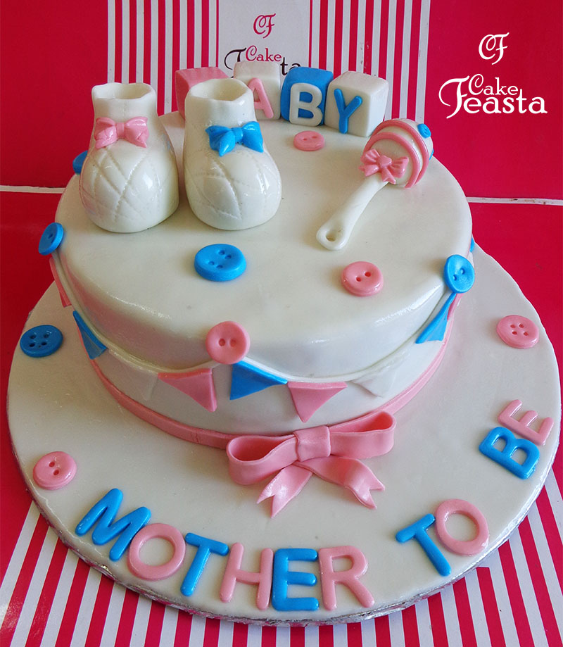 Buttons Baby Shower Cake in Lahore