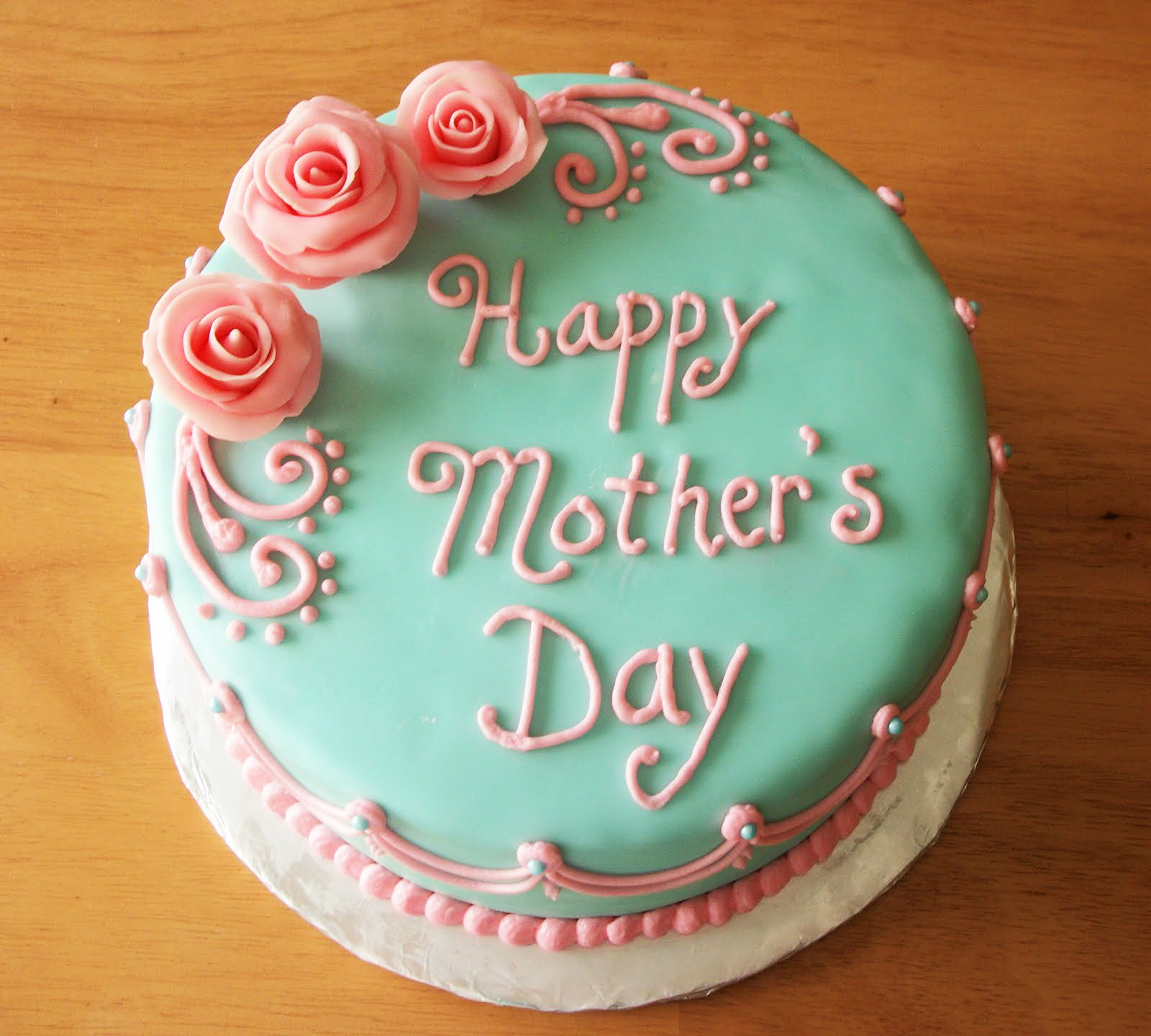 Three Flowers Mother S Day Cake