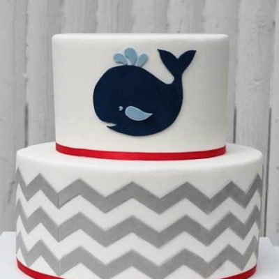Whale Baby Shower Cake in Lahore