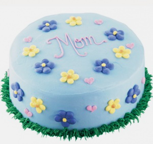 Yellow Blue Flowers Mothers Day Cake Happy mothers day cake designs