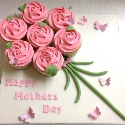 Butterfly Bouquet Mother's Day Cupcake in Lahore