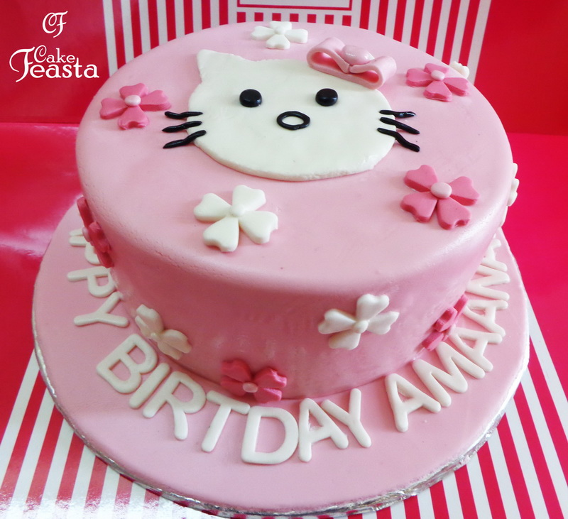 White Cat Birthday Cake Customized Cakes in Lahore Free Delivery