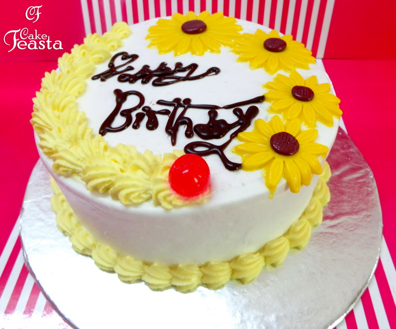 Sunflower Birthday Cake Customized Cakes in Lahore Free Delivery