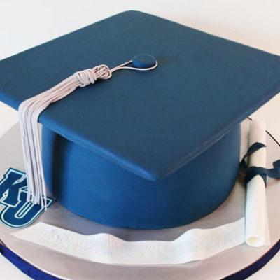 Blue Cap Graduation Cake in lahore