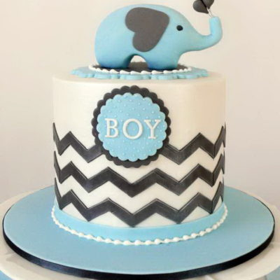 Blue Elephant Baby Shower Cake in Lahore.