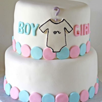 Gender Reveal Baby Shower Cake in Lahore.