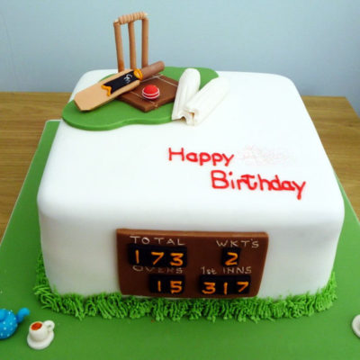 cricket theme cake 1 in Lahore. sports cakes