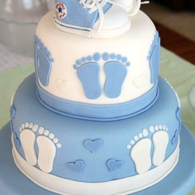 Cute Baby Feets Shower Cake in Lahore