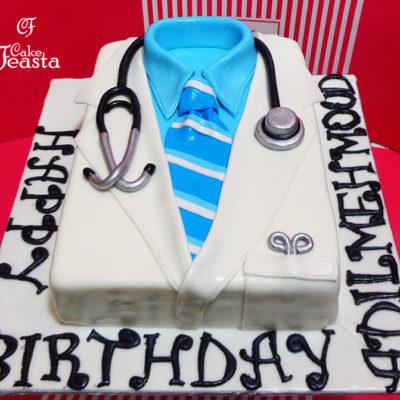 Doctor Lap Coat Medical Cake in lahore