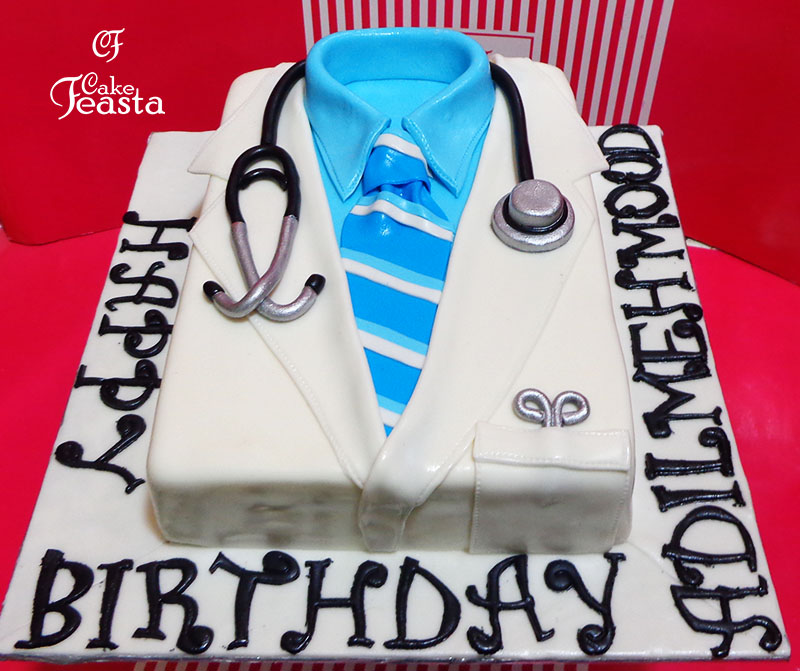 Doctor Lap Coat Medical Cake in lahore
