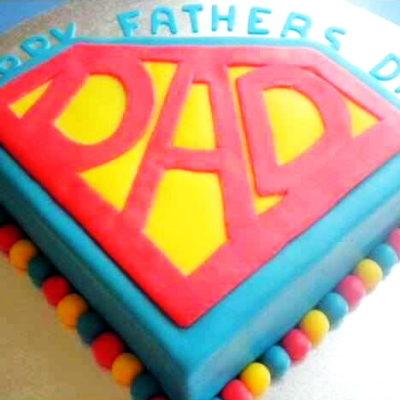 Super Dad Father's Day Cake in Lahore
