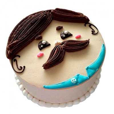 Mustache Father's Day Cake in Lahore