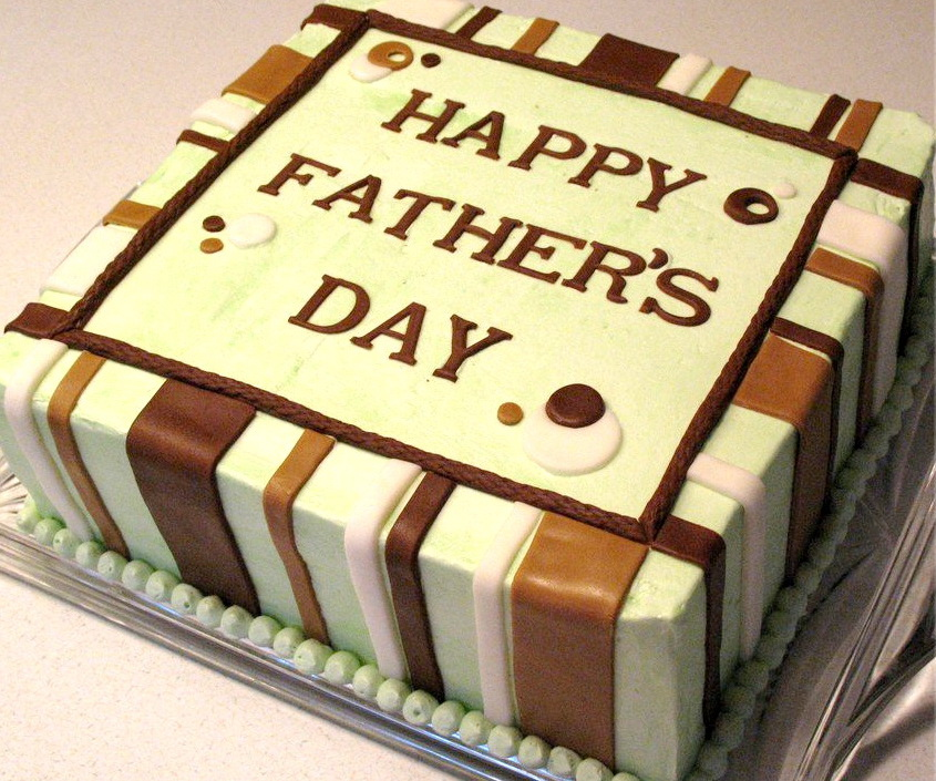 Brown Lines Fathers Day Cake Fondant Cakes in Lahore Free Delivery