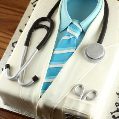 Doctor Lap Coat Graduation Cake
