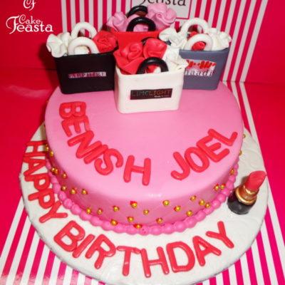 Pink Base Shopping Cake in Lahore