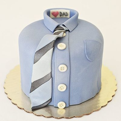 Blue Shirt Father's Day Cake in Lahore