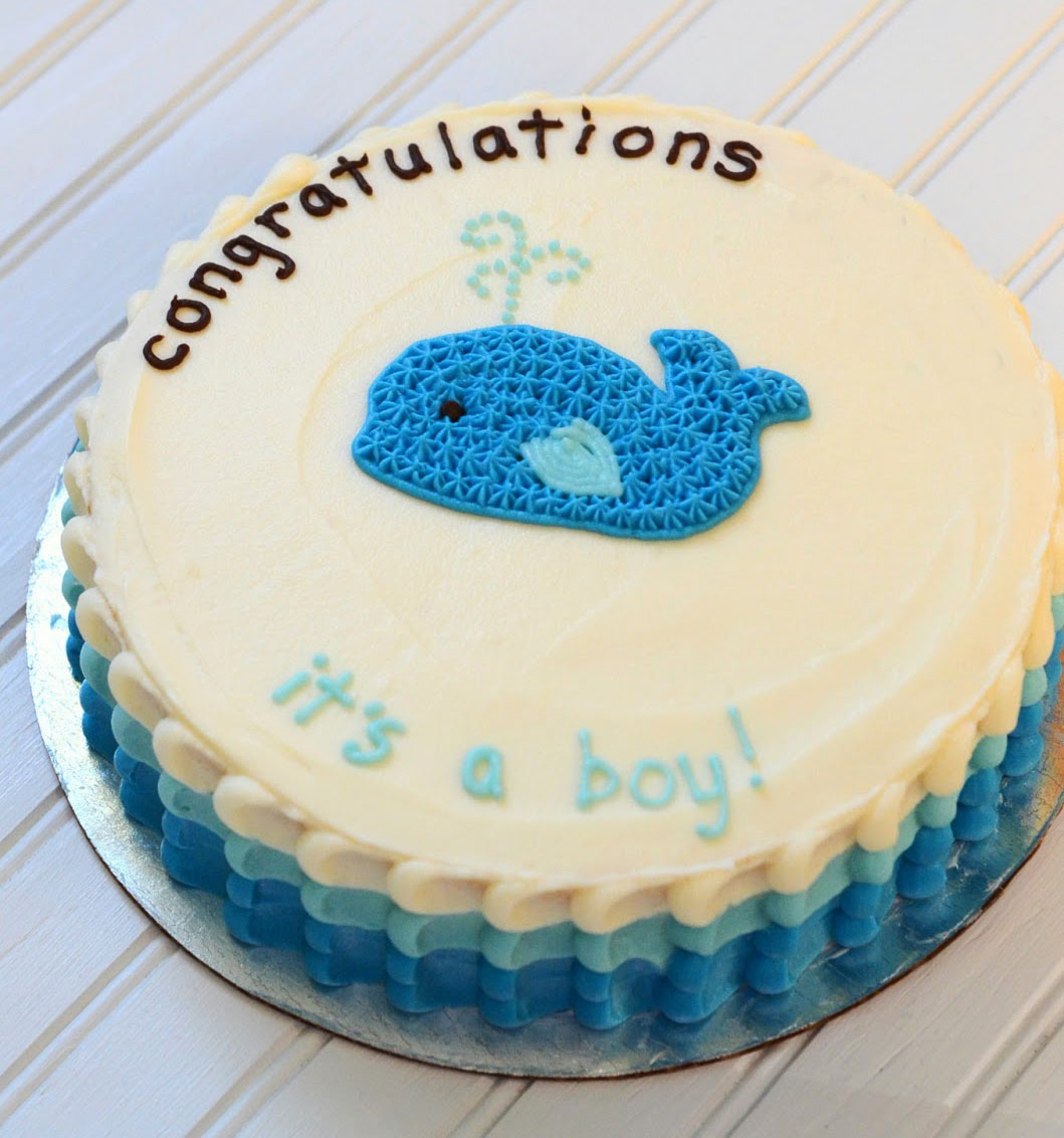 Blue Whale Bum Baby Shower Cake in Lahore.