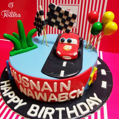 95 Red Car Birthday Cake