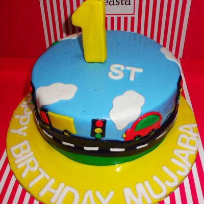 Traffic Signal Birthday Cake