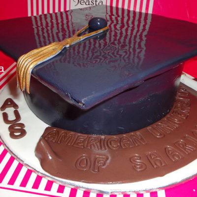 Black Cap Graduation Cake