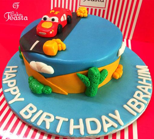 Car Journey Birthday Cake