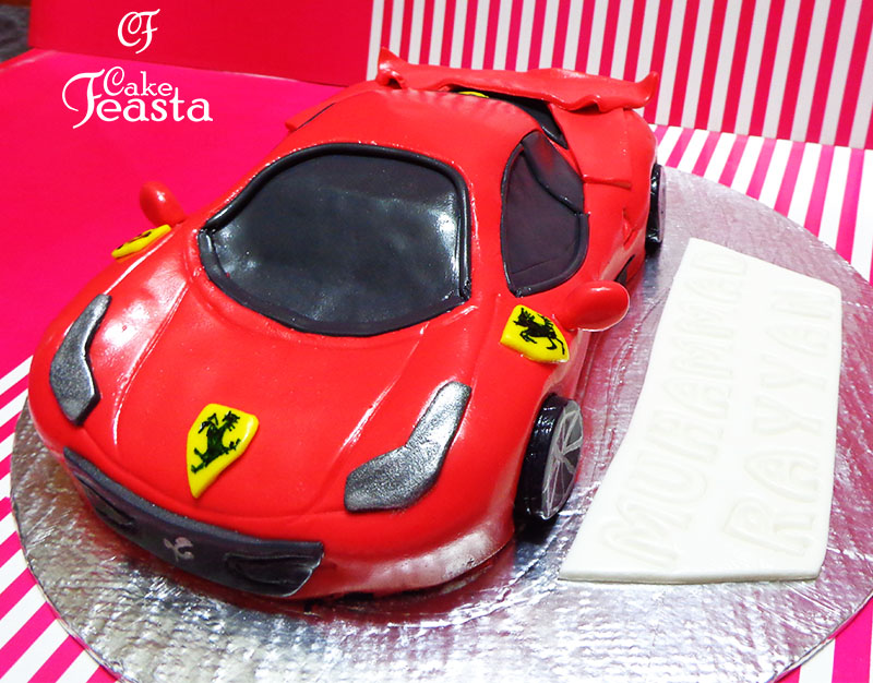 Red Ferrari Birthday Cake