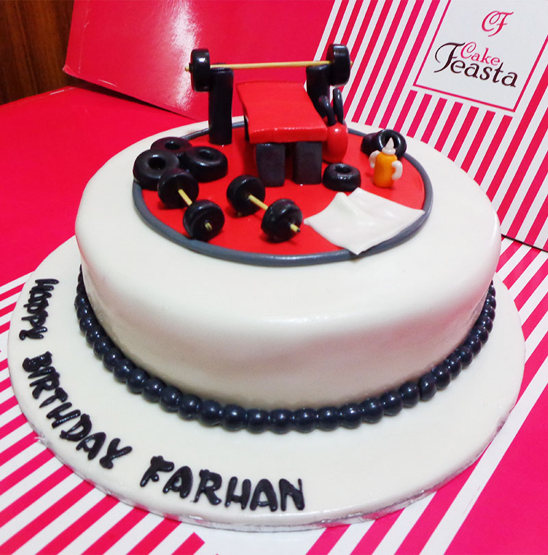Gym Weight Lifting Sports Cake Customized Cakes In Lahore