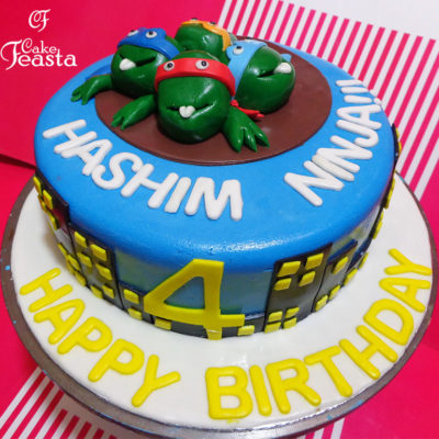 Ninja Turtles Birthday Cake in lahore