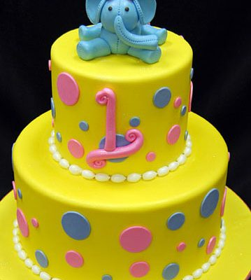 Elephant Baby 1st Birthday Cake in lahore