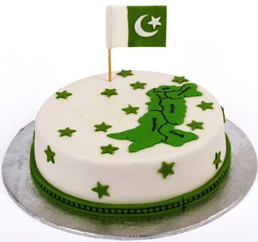 Green Map 14 Aug Cake in lahore