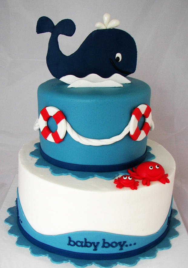 Whale 2 Tier Cake Fondant Cakes in Lahore Free Delivery