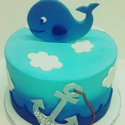 Whale Baby Ocean Cake in lahore