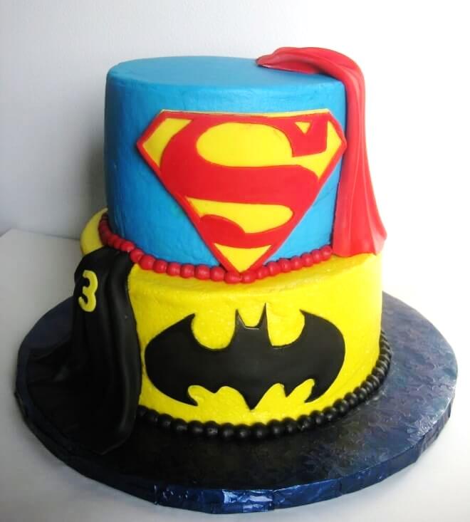 Batman Superman Cake Fondant Cakes In Lahore