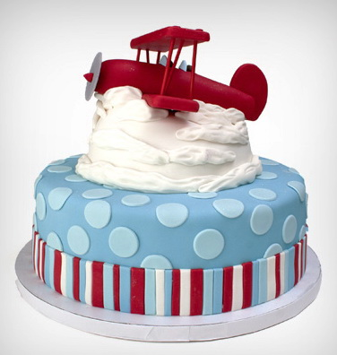 Dark Red Airplane Party Cake in Lahore