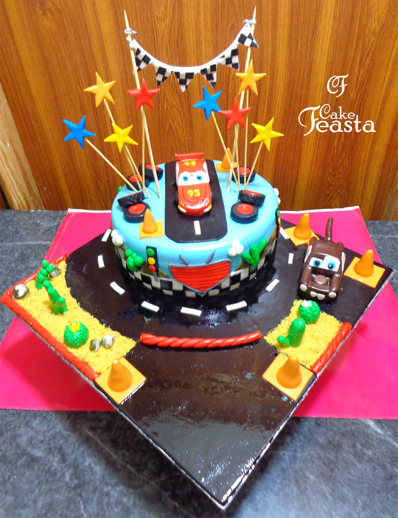 Lightning McQueen Birthday Cake Customized Cakes in Lahore
