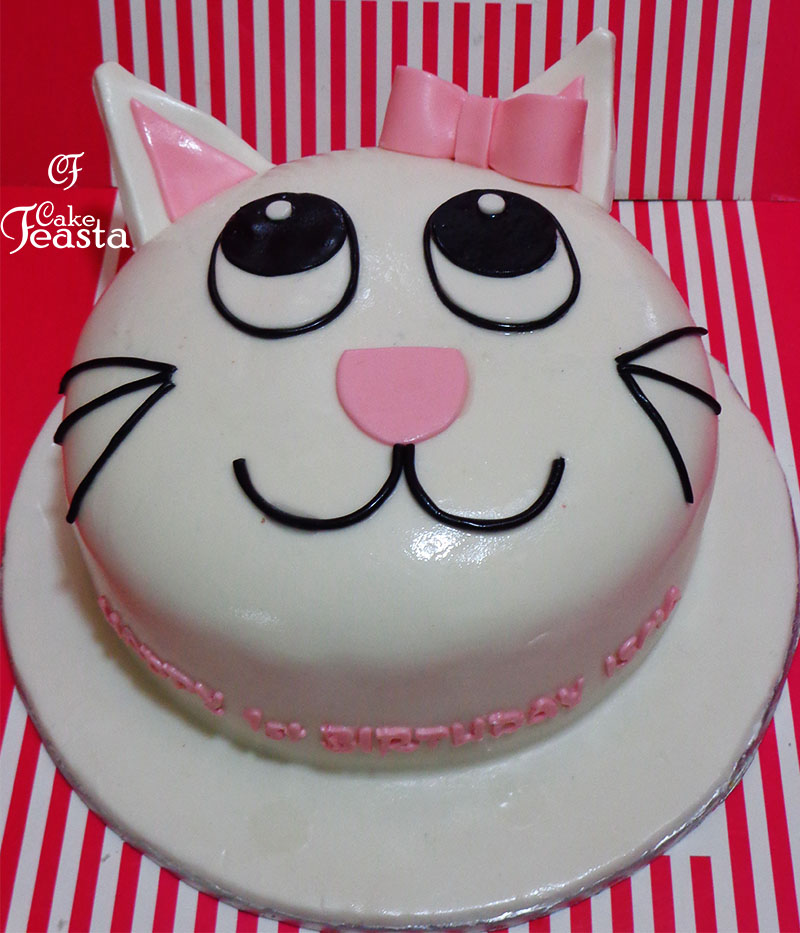cat girl birthday cake in lahore