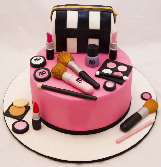 Birthday Makeup Cake Customized Cakes In Lahore Free Delivery
