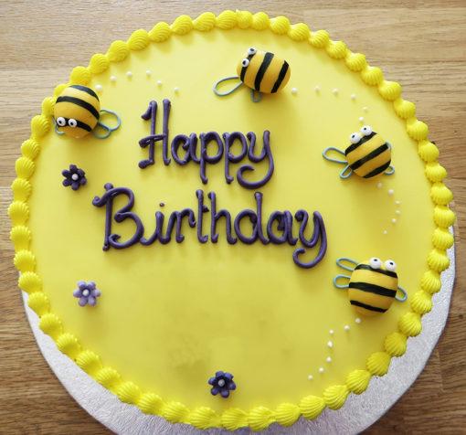 Bee Yellow Theme Cake in lahore